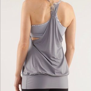Lululemon - No Limits - silvery grey tank (Size 6)